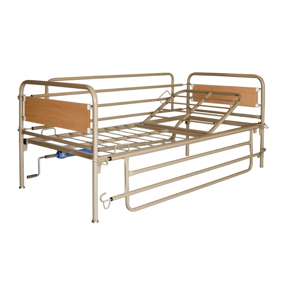 Νοσοκομειακό Κρεβάτι Μεταλλικό Μονόσπαστο